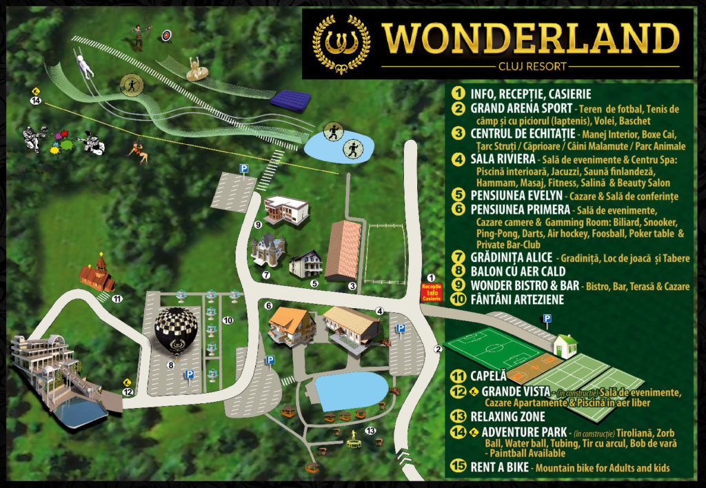 Wonderland Cluj Resort Contact